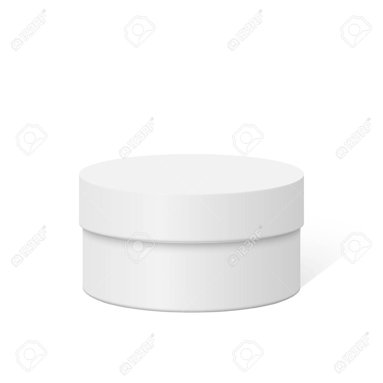 Plastic round container box package design illustration template - 123026057