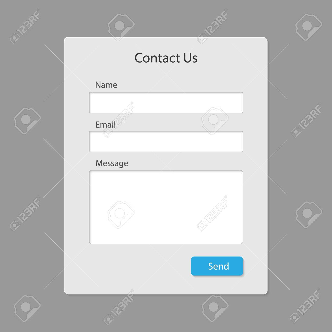 Contact form page template isolated . Template for your design - 125913969