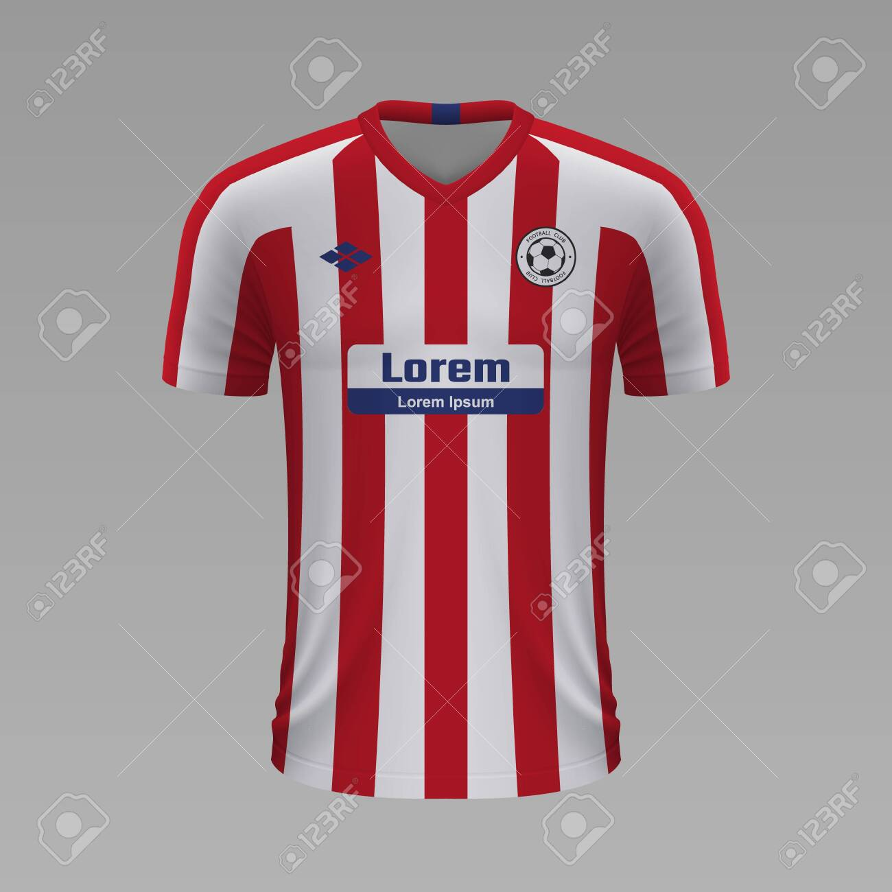 Realistic Soccer Shirt Atletico Madrid 2020 Jersey Template Royalty Free Cliparts Vectors And Stock Illustration Image 129540846