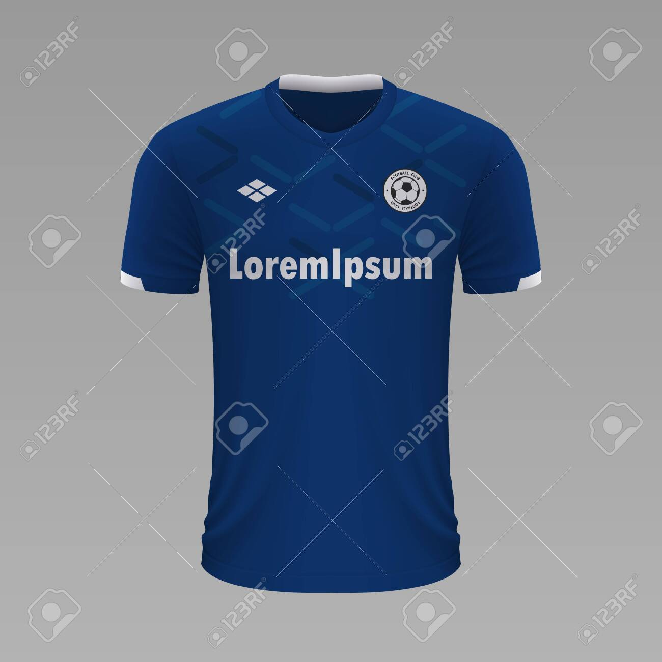 Realistic Soccer Shirt Everton 2020 Jersey Template For Football Royalty Free Cliparts Vectors And Stock Illustration Image 129450947