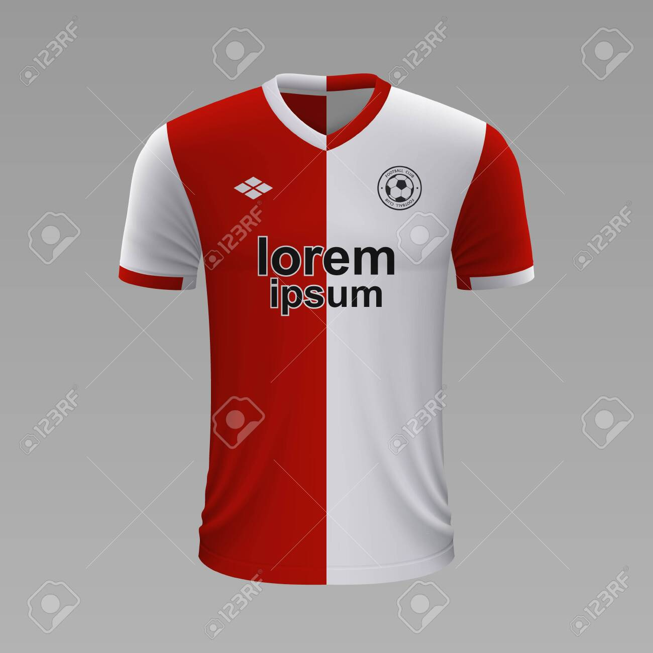 Realistic Soccer Shirt Feyenoord 2020 Jersey Template For Football Royalty Free Cliparts Vectors And Stock Illustration Image 129450946