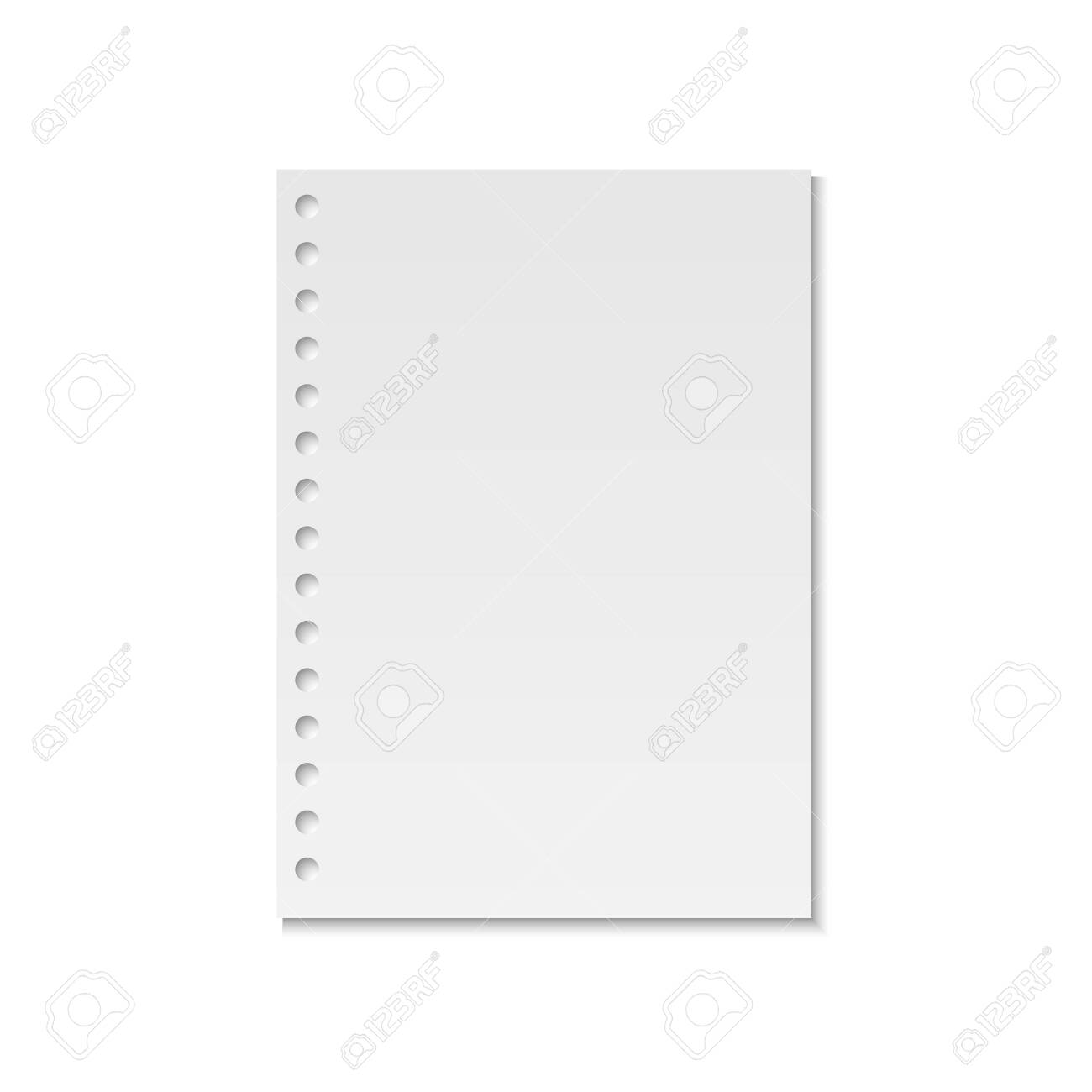 Blank realistic notebook paper page template . Template for your design - 134591285