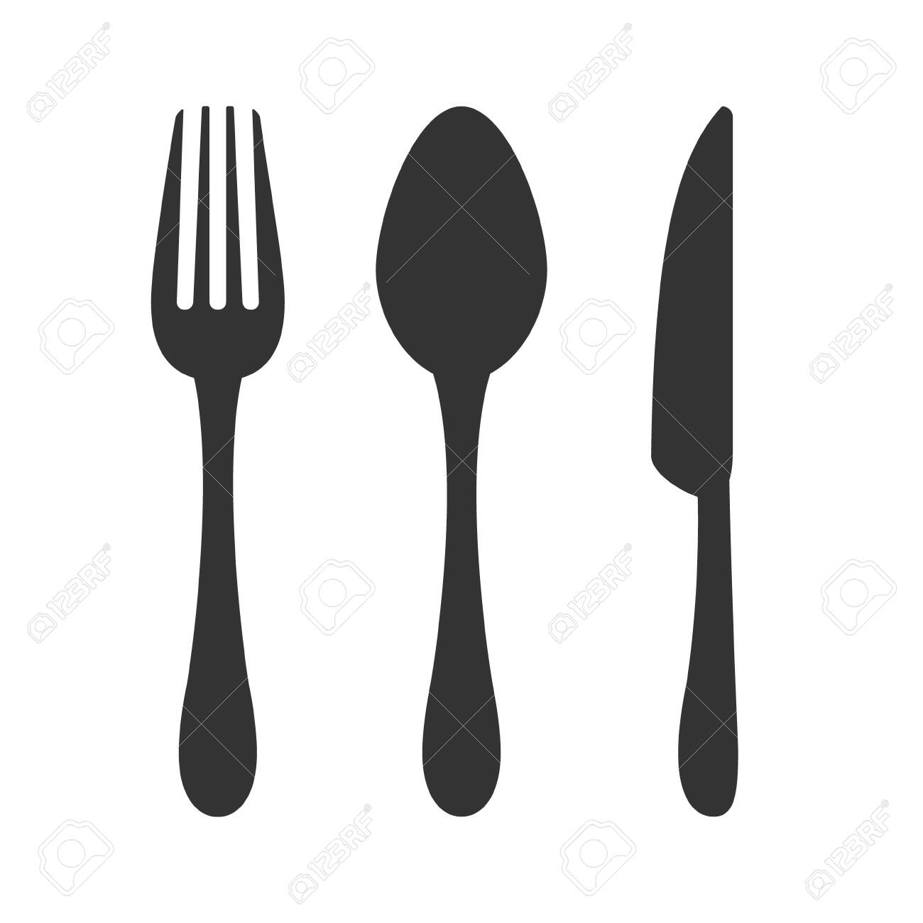 Knife, fork and spoon icon. Restaurant sign - 139621690