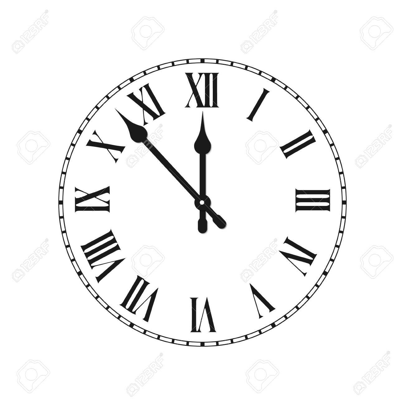 Clock face with roman numerals time - 139509026