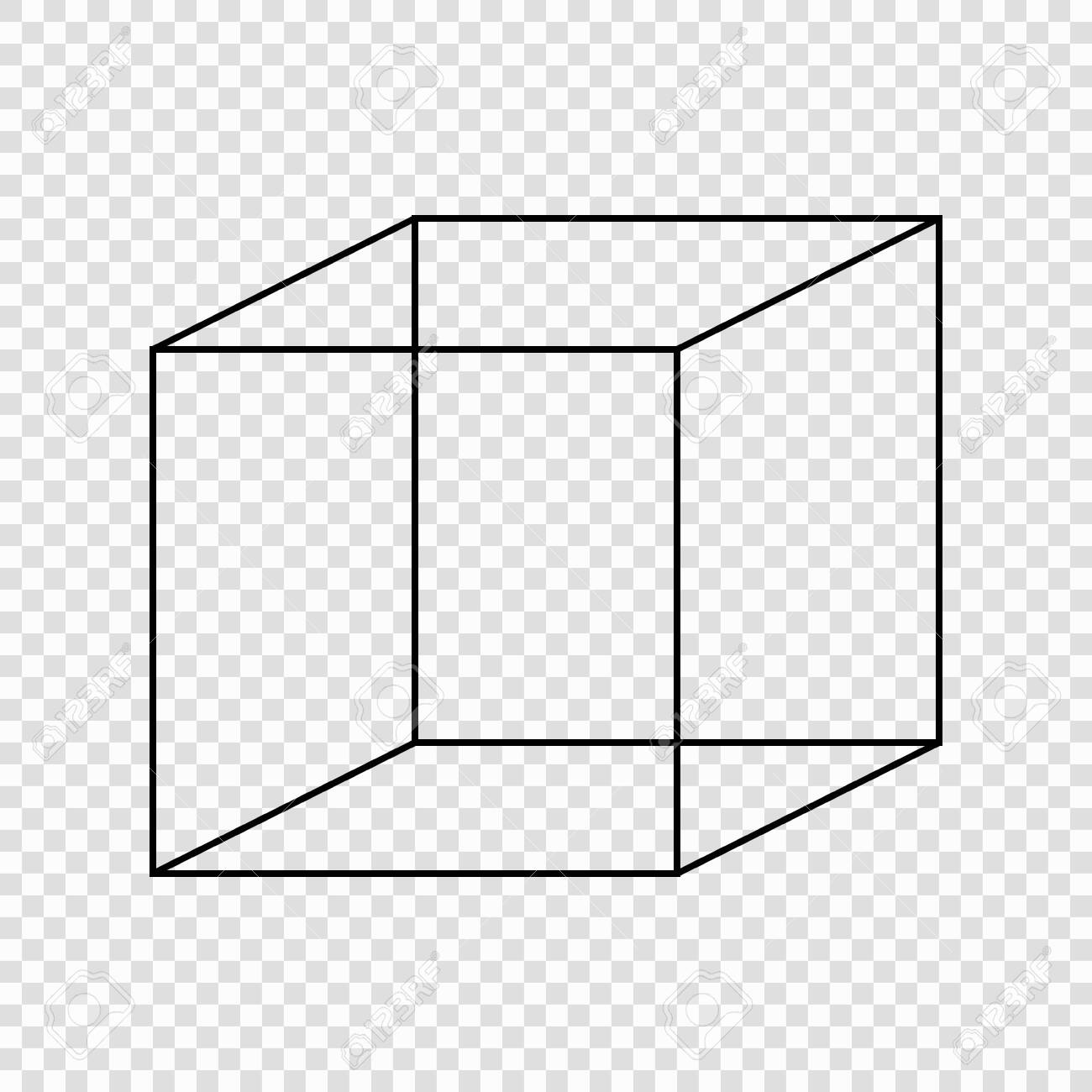 Necker cube optical illusion. Vector illustration - 139622264