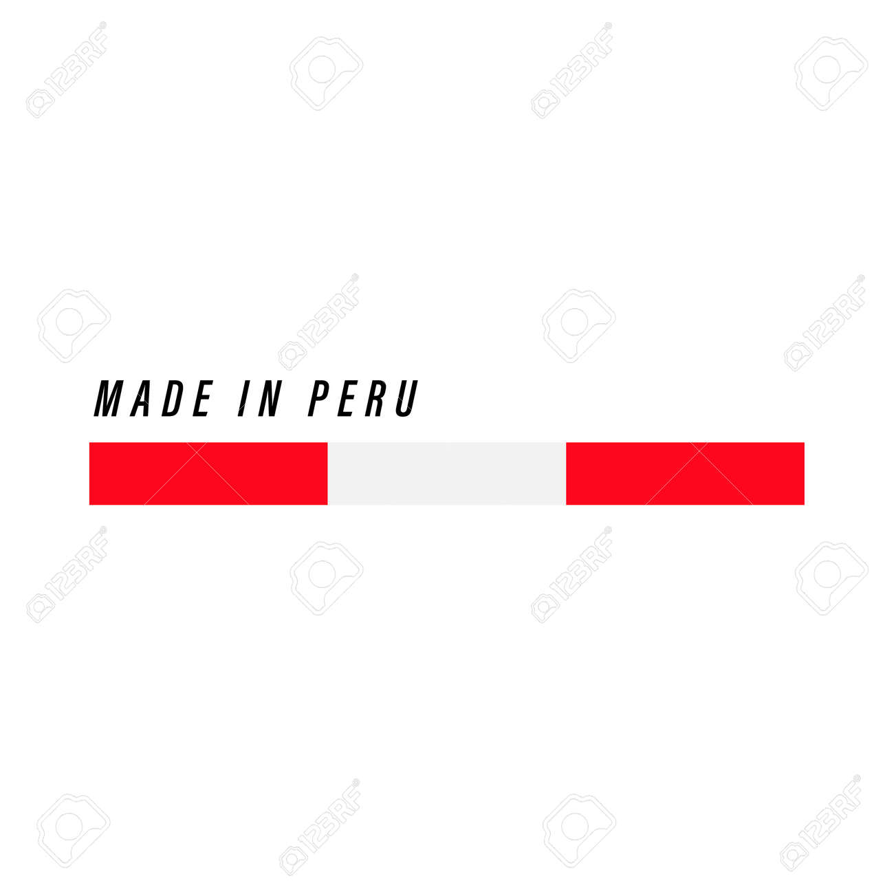 Made in Peru, badge or label with flag isolated on white background - 168929112