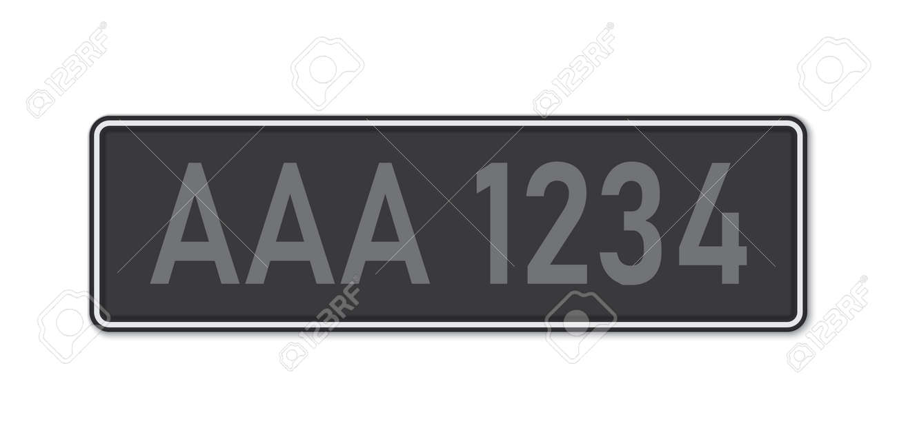 Car number plate. Vehicle registration license of Malaysia. Standard sizes - 168928822