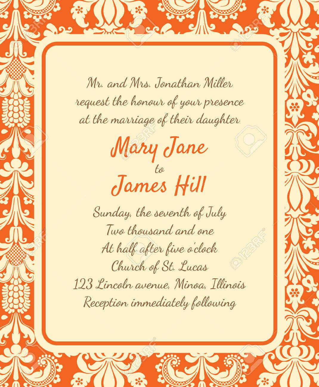 invitation a rich background in renaissance style template invitation a rich background in renaissance style template framework wedding invitations or announcements