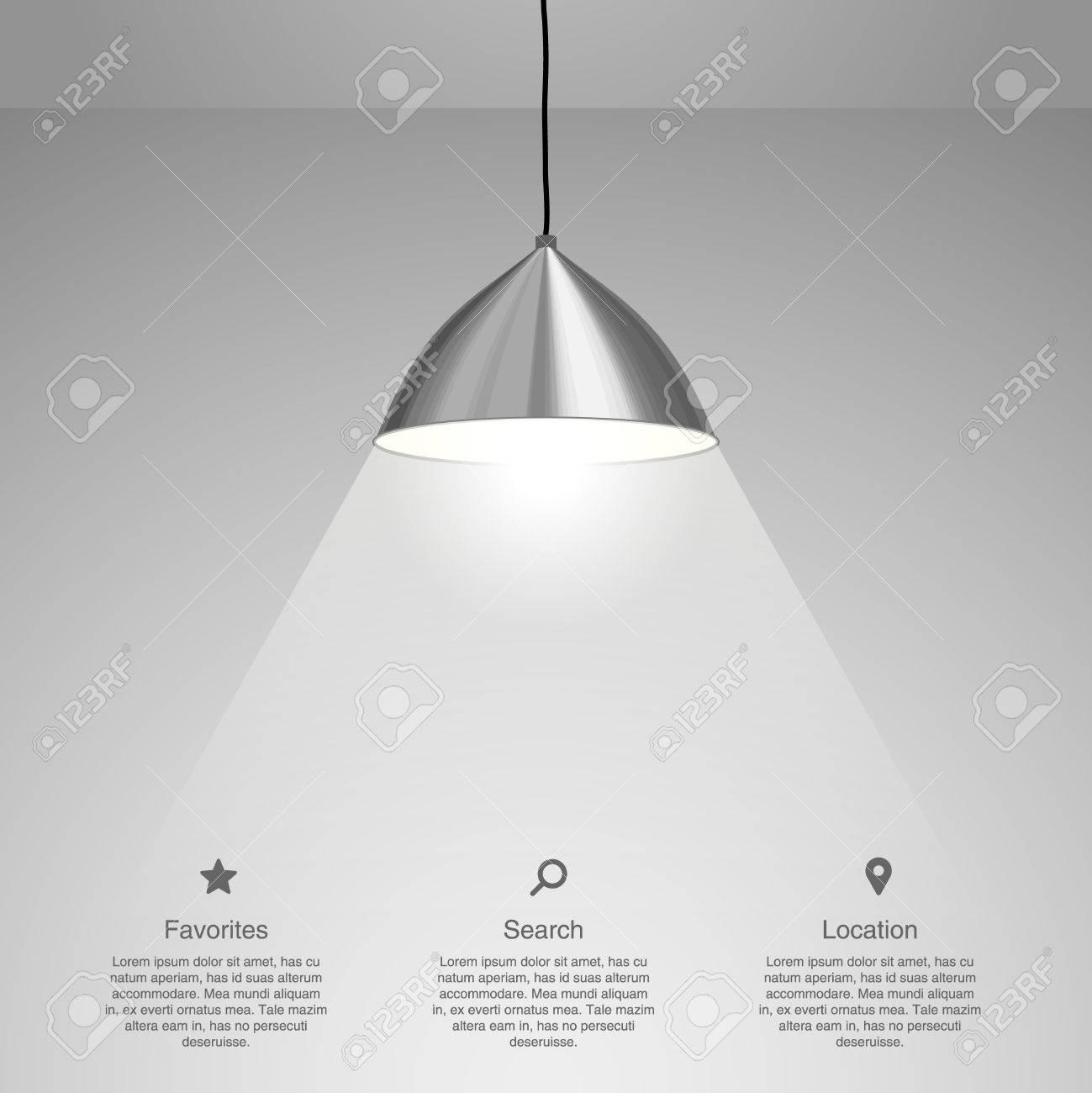 Lamp Hanging. Vector illustration - 33424078