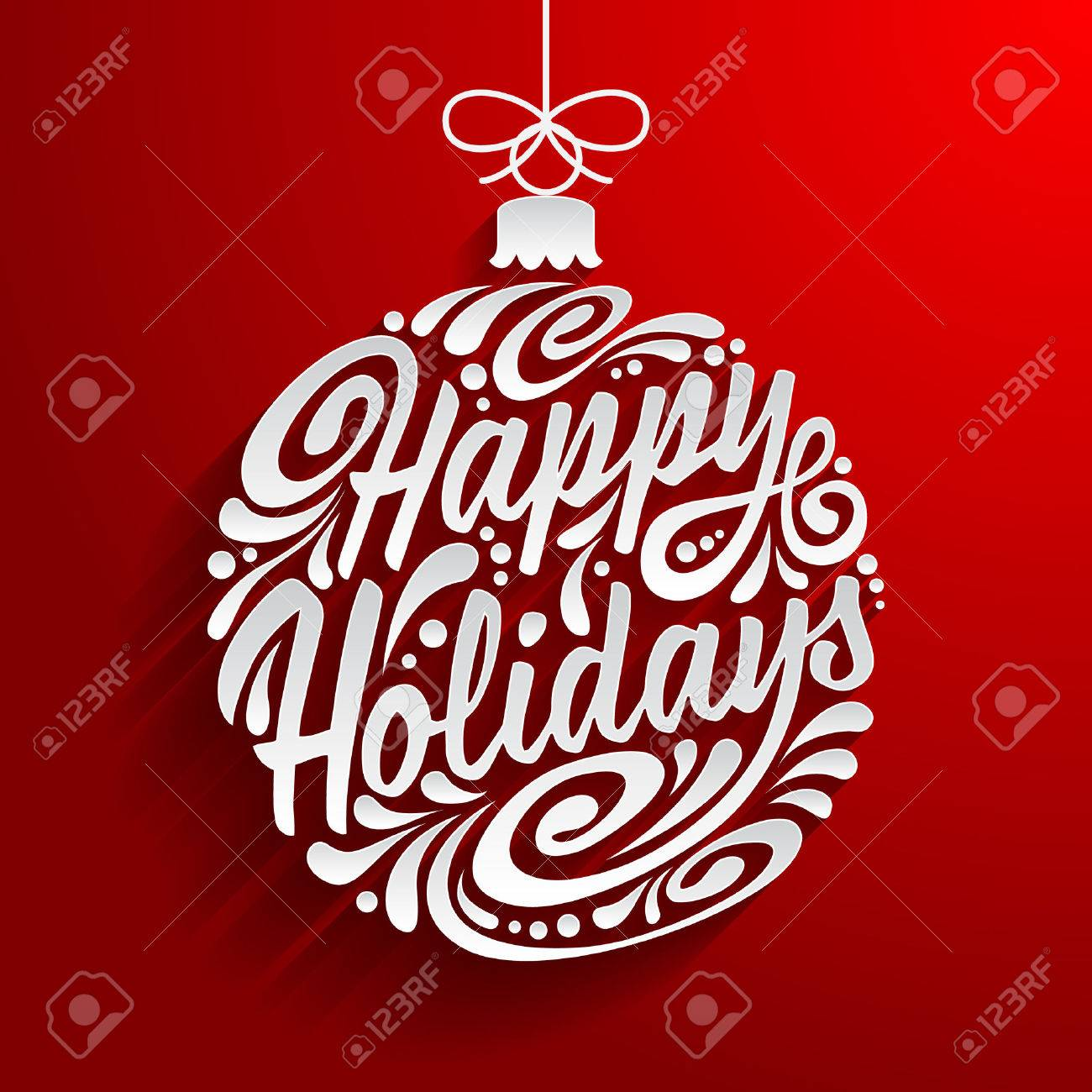 Happy holidays card stock photos royalty free business images holidays greeting card with abstract doodle christmas ball vector eps10 illustration happy holidays kristyandbryce Image collections