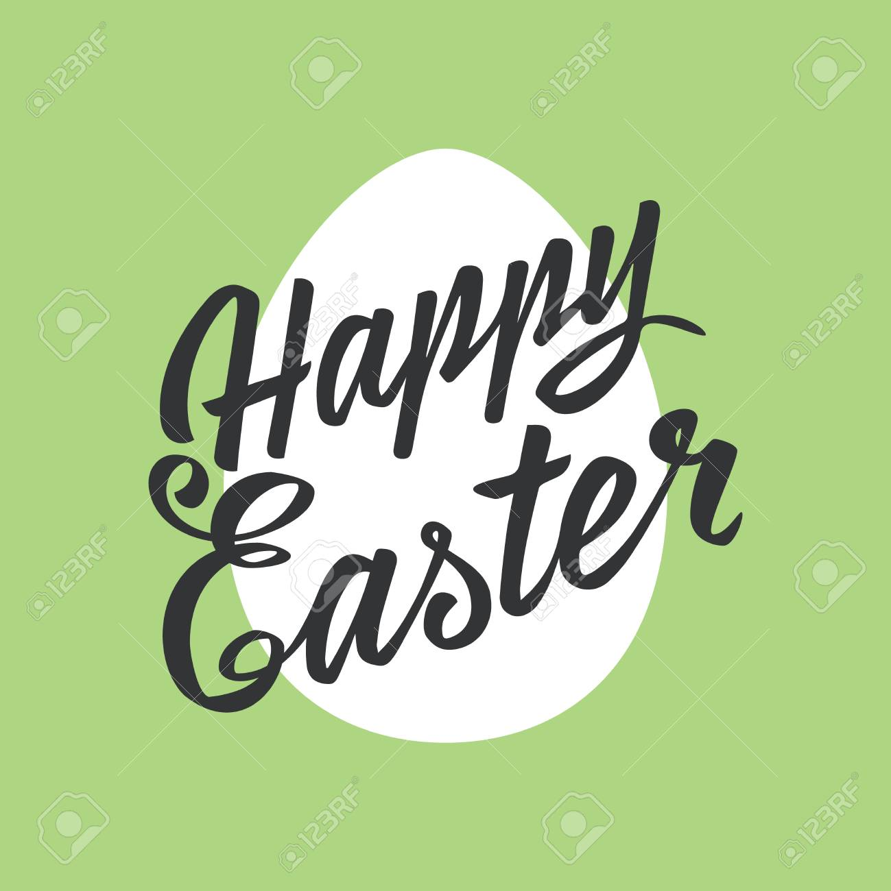 Happy easter greeting cardlettering egg on color background happy easter greeting cardlettering egg on color background typography inscription stock vector m4hsunfo