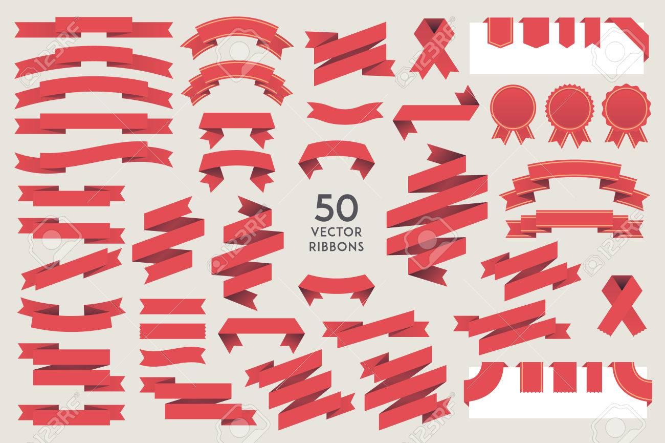 Vector Ribbons. Set of 50 ribbons - 59118985