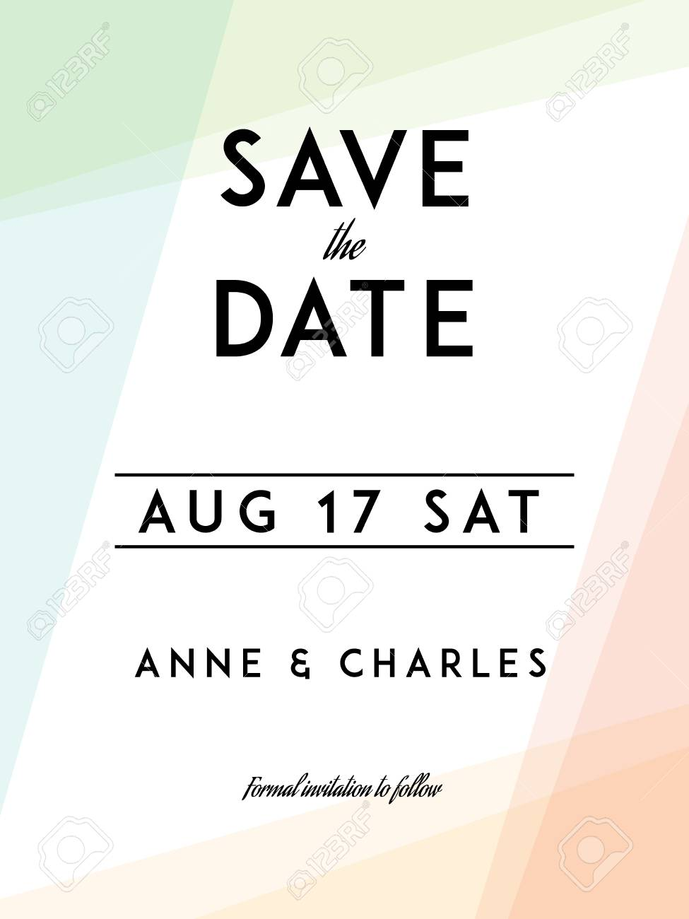Modern Wedding Save The Date Template. Modern Design. Save The ...