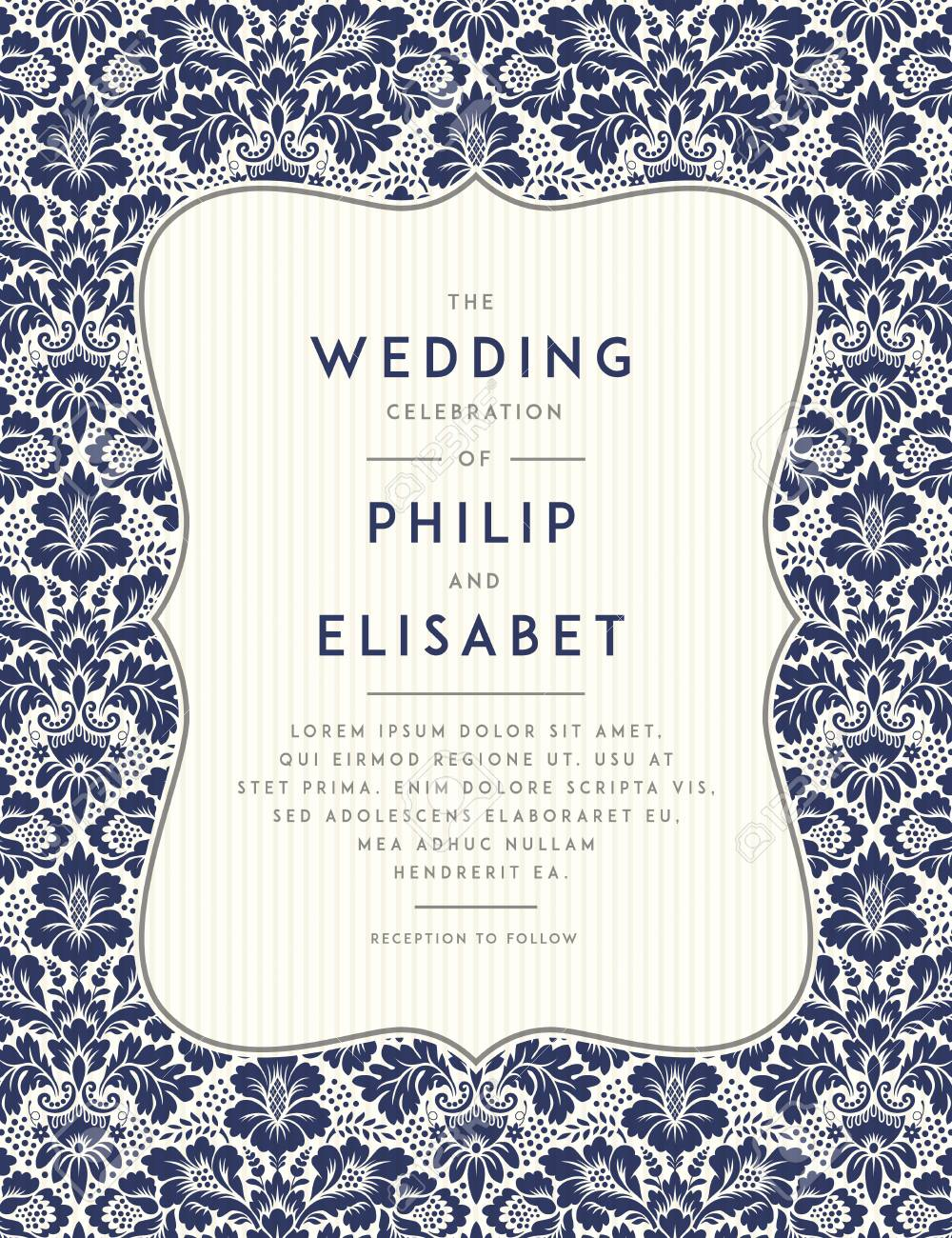 vintage wedding invitation template vintage design wedding