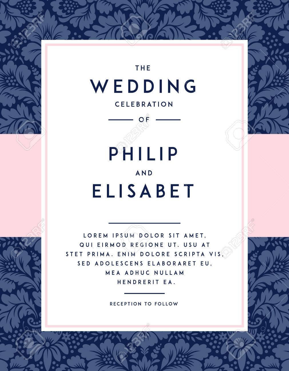 Vintage Wedding Invitation Template. Vintage Design. Wedding ...
