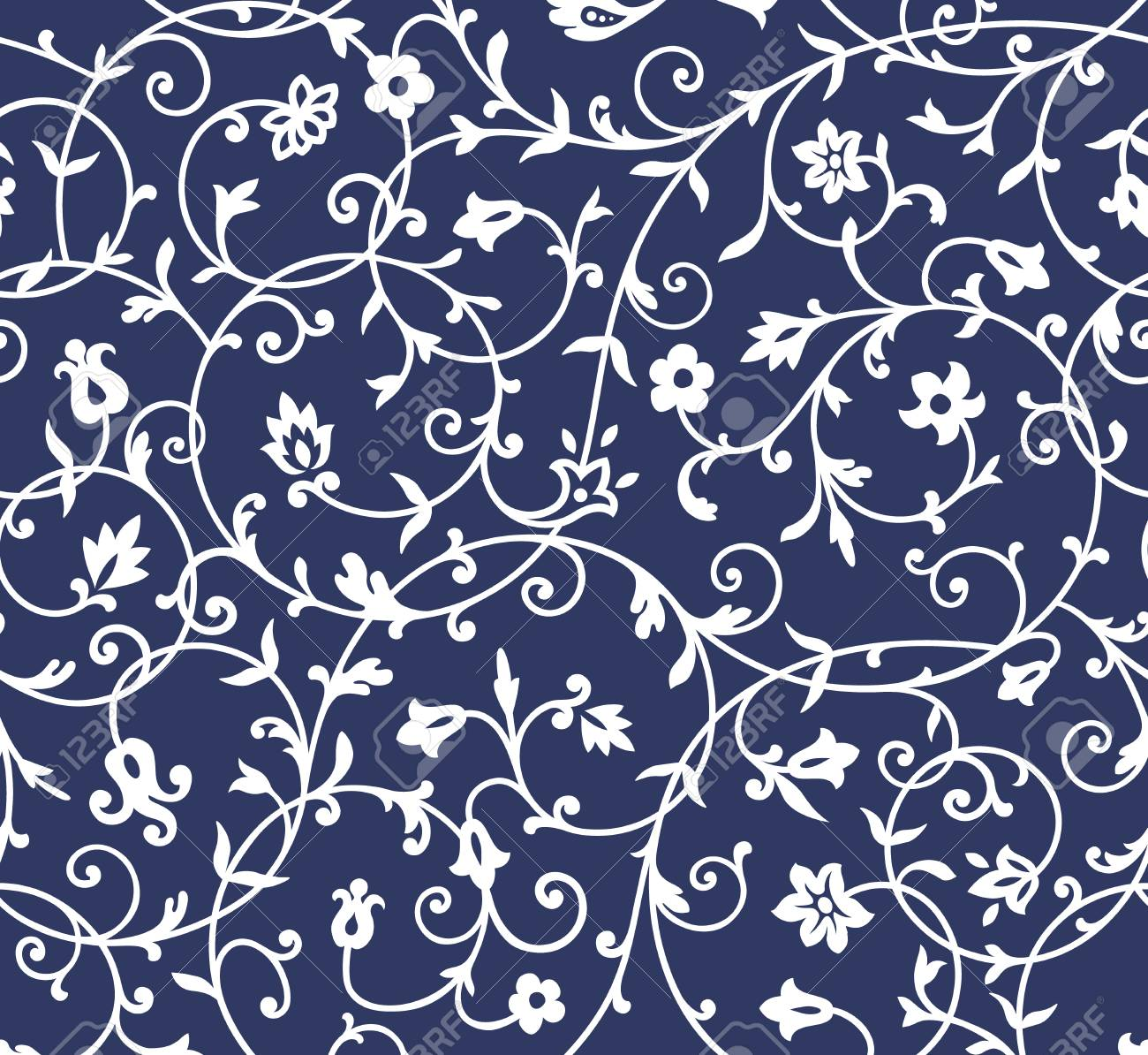 Vintage floral pattern rich ornament, old style pattern for wallpapers,..