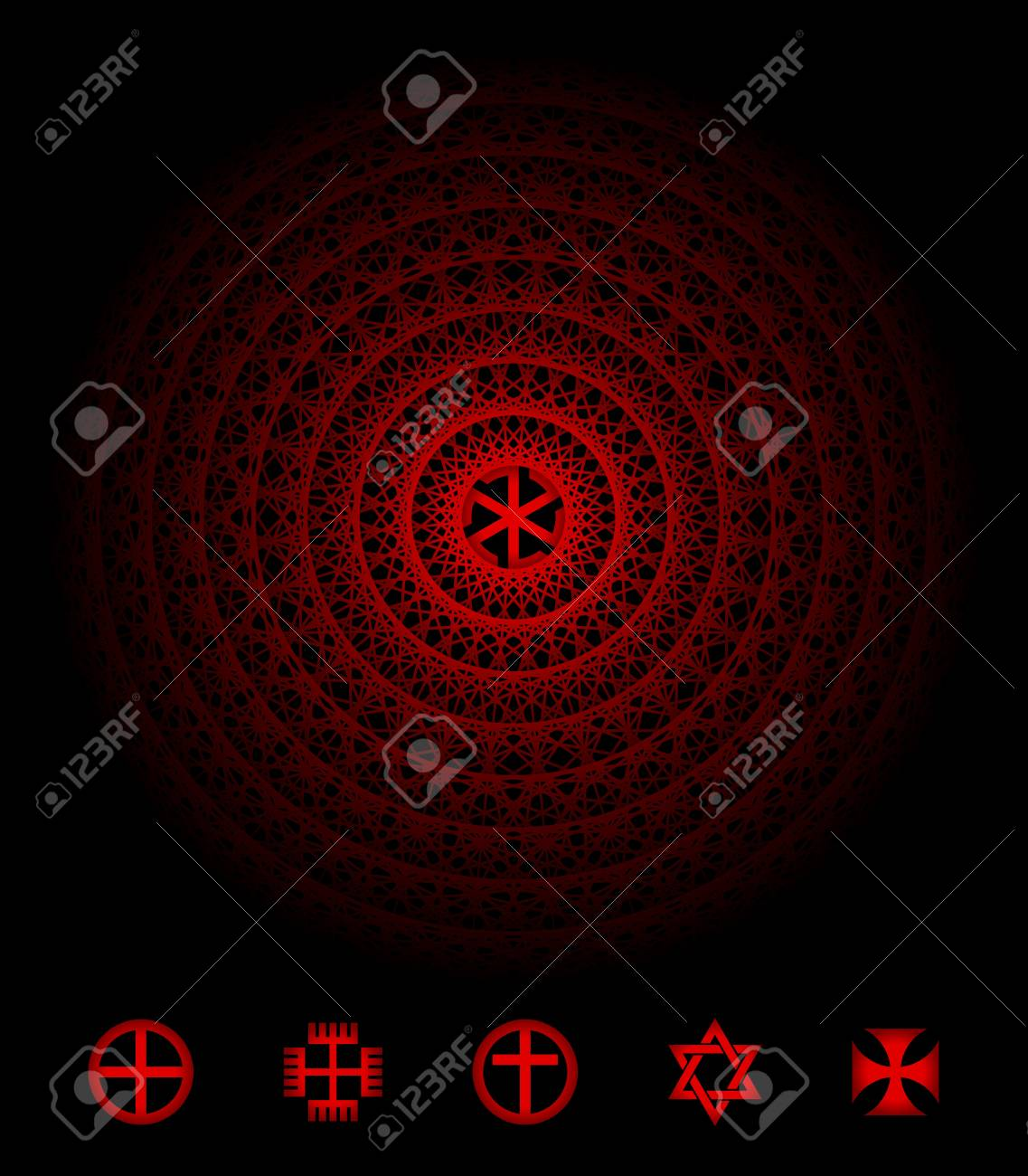 Sacred symbol decorated with abstract pattern Stock Vector - 18869680
