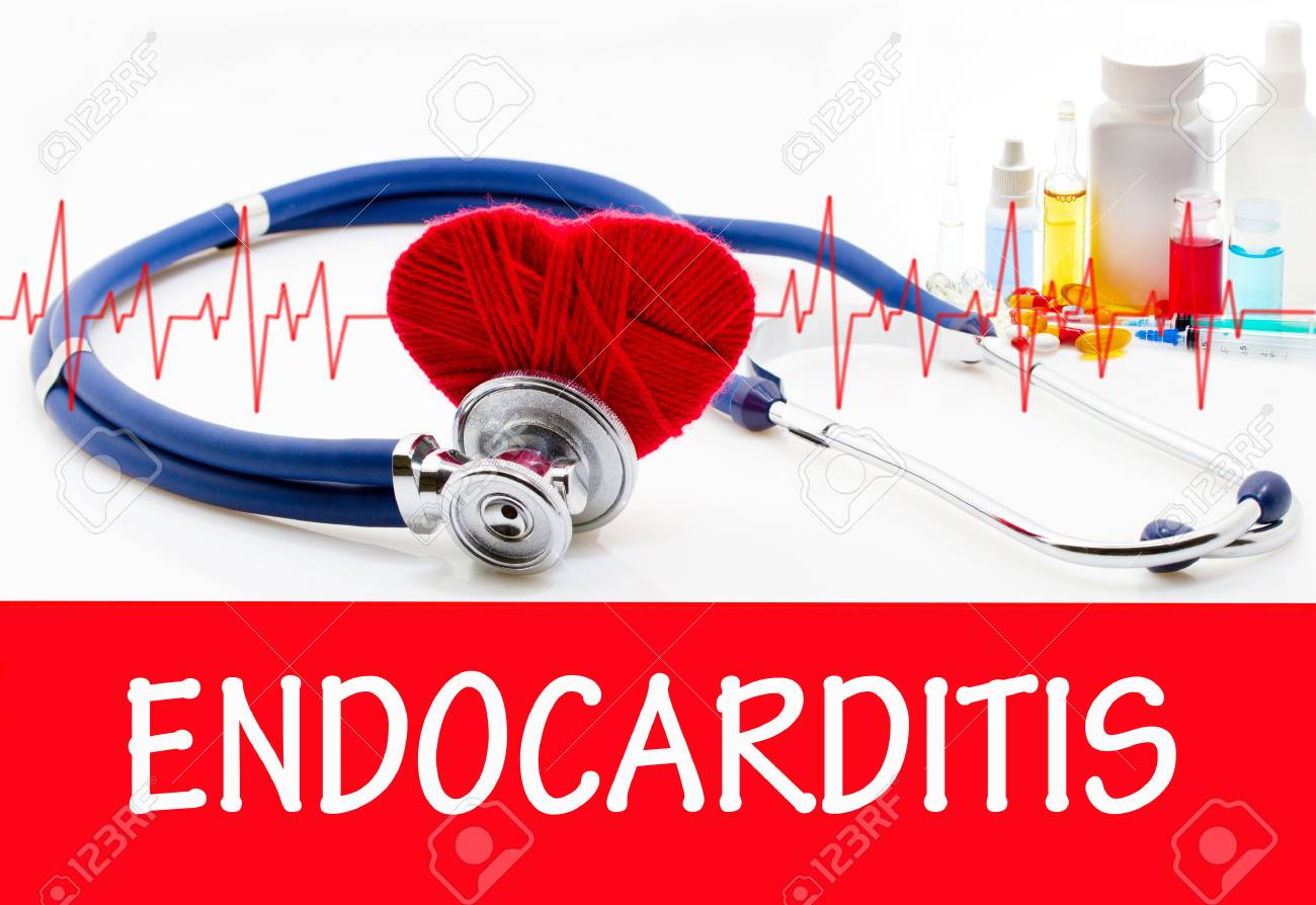 Le Diagnostic De L'endocardite. Phonendoscope Et Le Vaccin Avec Des ...