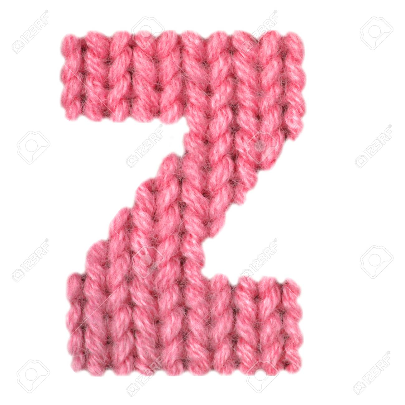 Letter Z Alphabet On A Blurry Texture Knitted Pattern Of Woolen ...