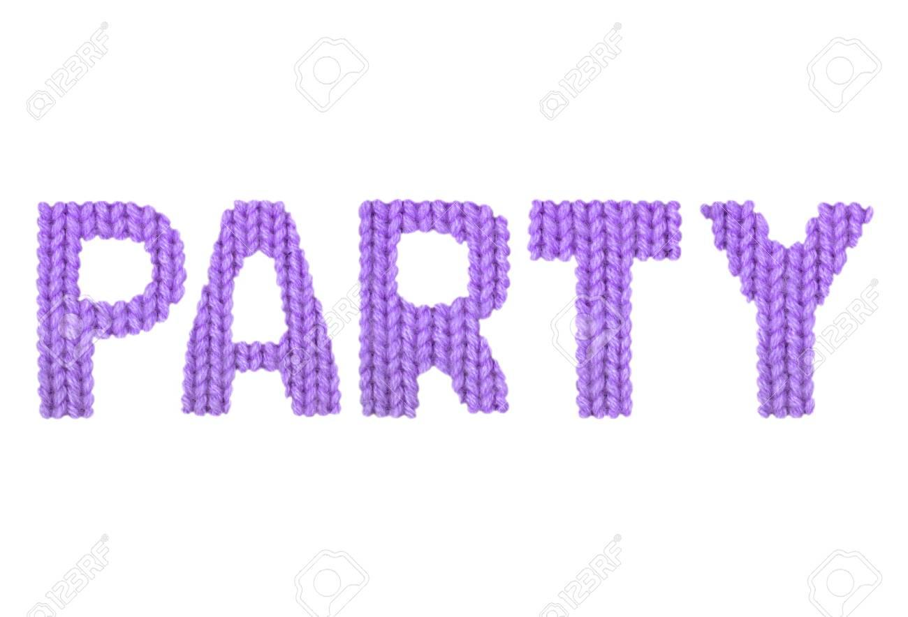 ウールの糸のクローズ アップのぼやけた質感のニット パターンのパーティ