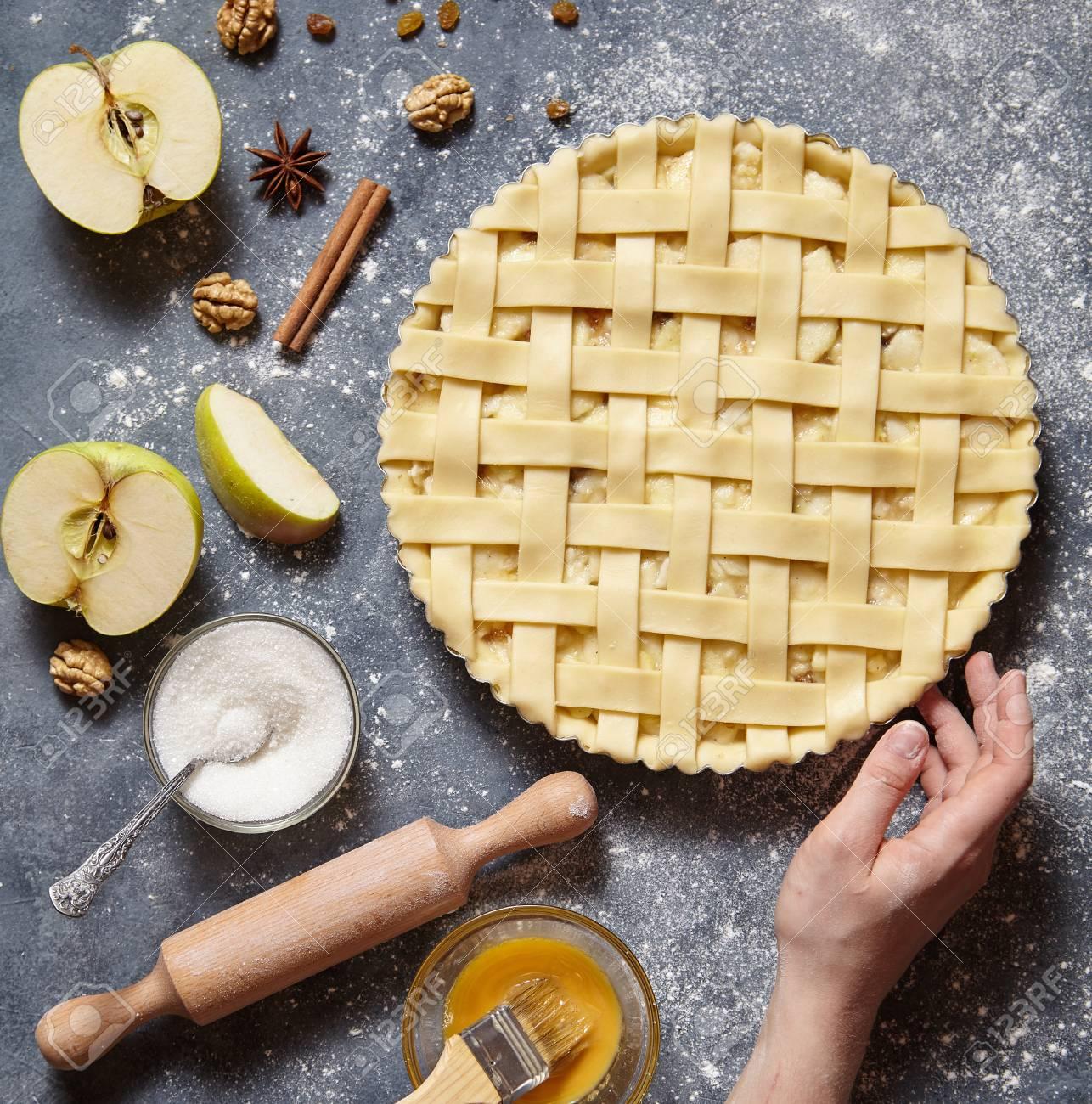 Tarte Aux Pommes Tarte Maison Traditionnelle Américaine Dessert