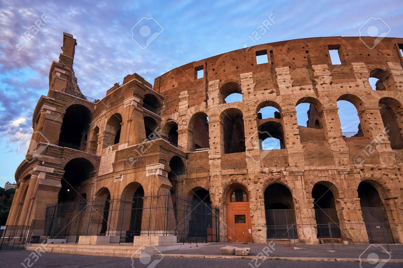 Colosseum Gladiator Arena Famous Ancient History Roman Stock Photo