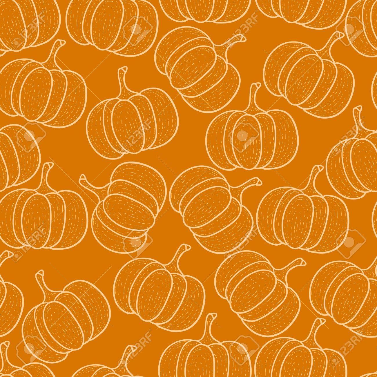 Pumpkin seamless background Stock Vector - 22071290
