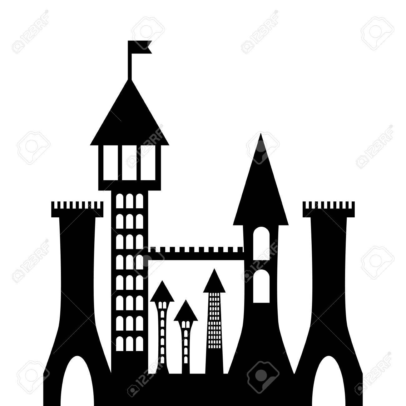 isolated vector ancient gothic castle black silhouette royalty free rh 123rf com castle victorian home plans castle victorian nebraska