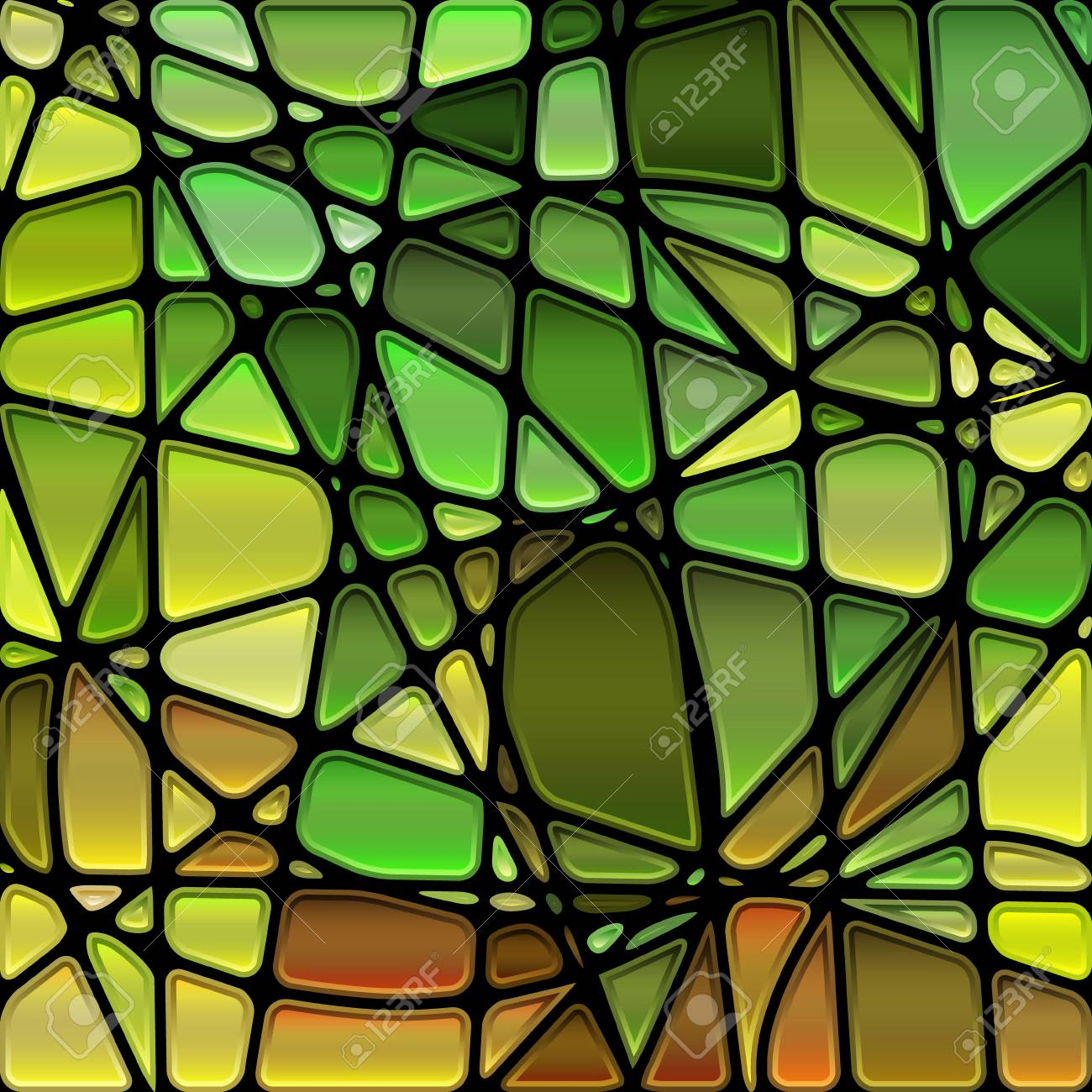Green Stained Glass Abstract
