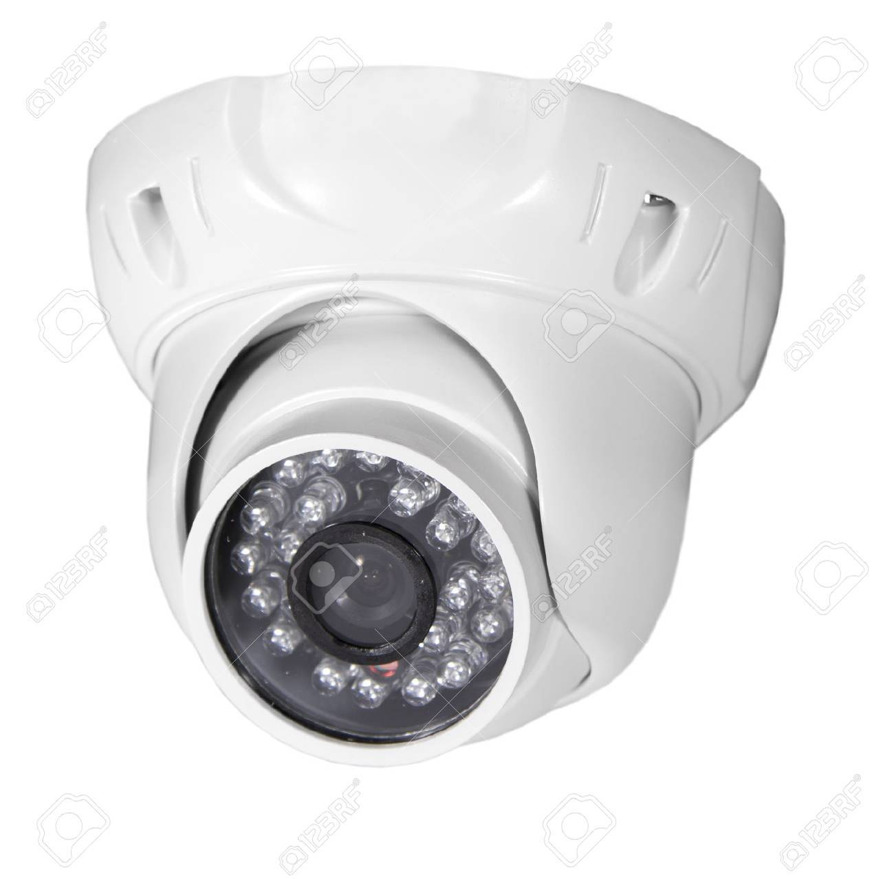 Isolated Video Surveillance Camera Stock Photo   22457873