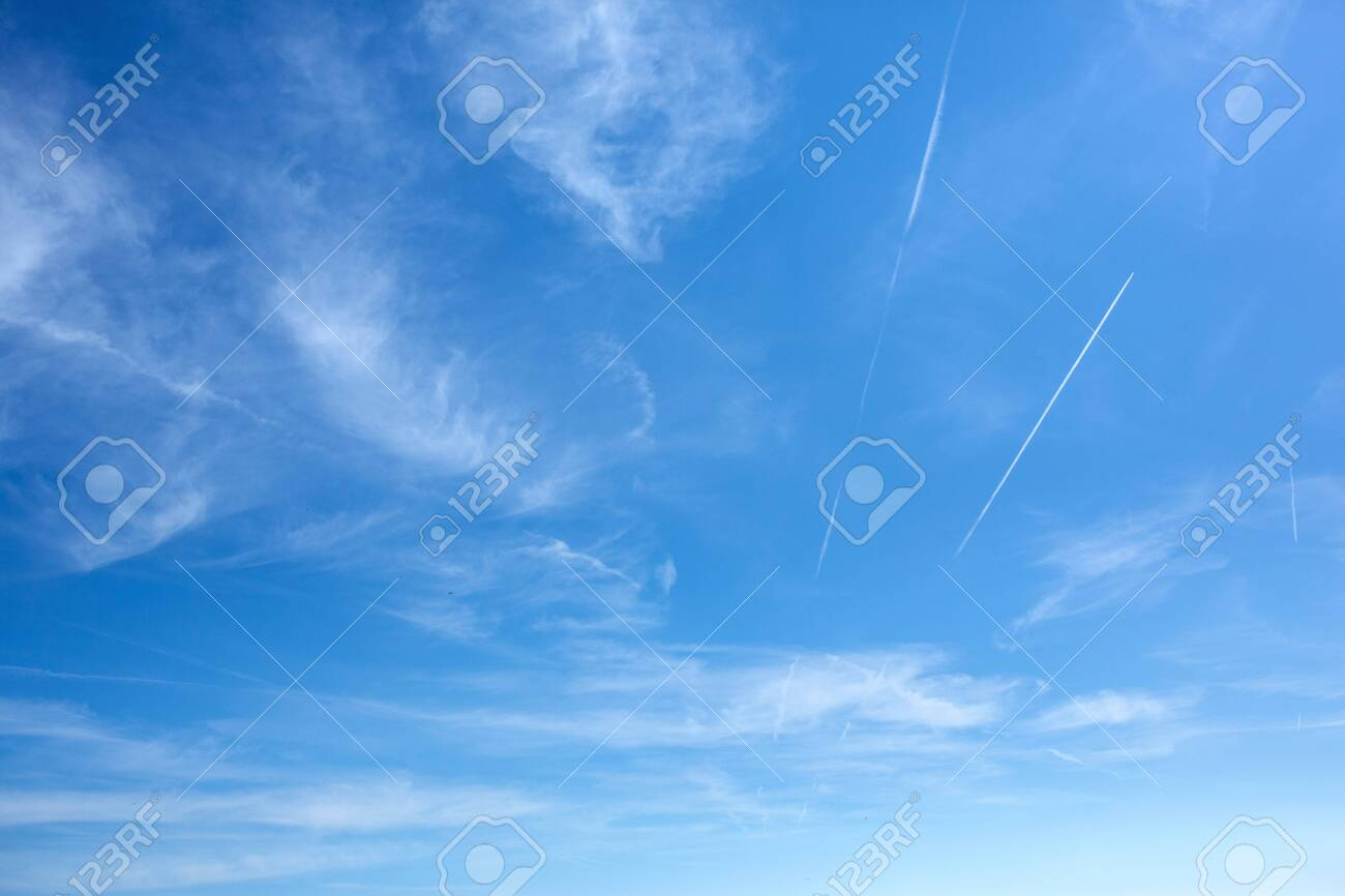Beautiful blue sky clouds for background. Panorama of sky.Blue sky and white clouds background. - 134962575