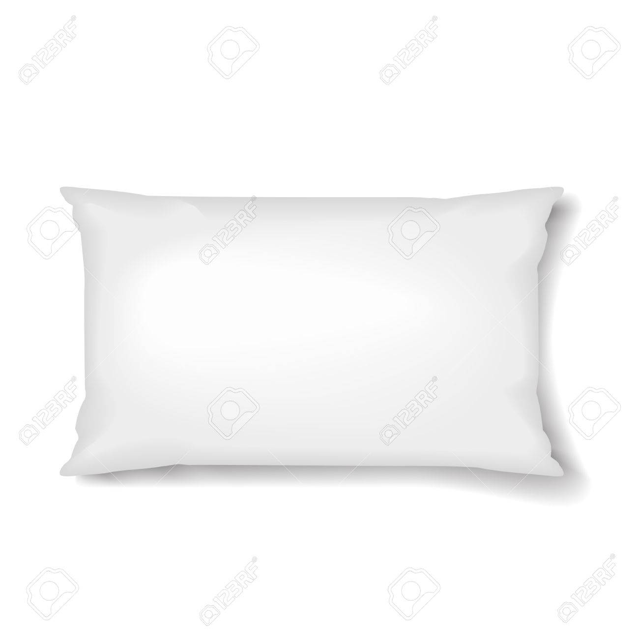 rectangular pillow pillow template isolated on white background