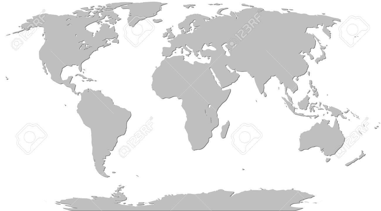 weltkarte grau Illustration Graphic Vector Weltkarte Grau Für Verschiedene Zwecke  weltkarte grau