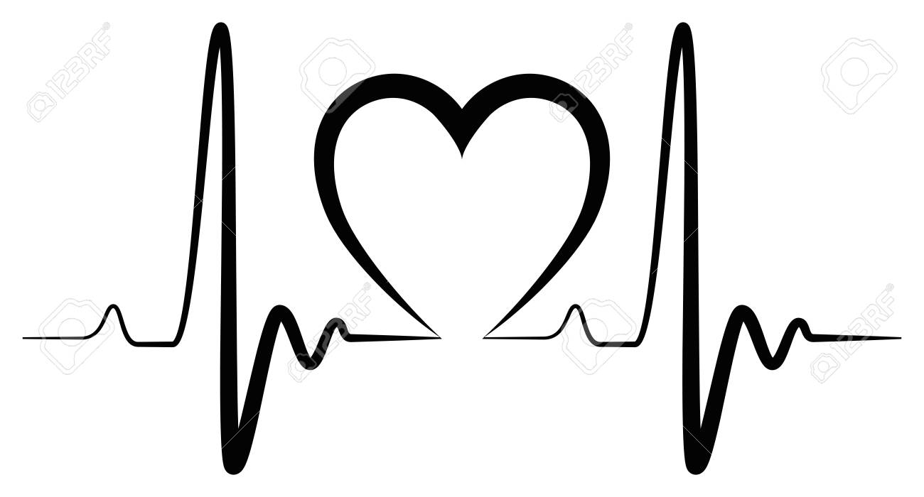 heartbeat shape illustration black for creative use in graphic rh 123rf com heartbeat clipart png heart rate clip art free