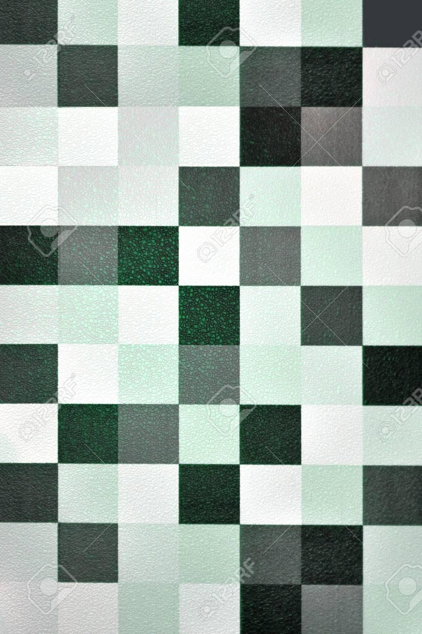 Seamless Papier Peint Geometrique Tons Verts Banque D Images Et