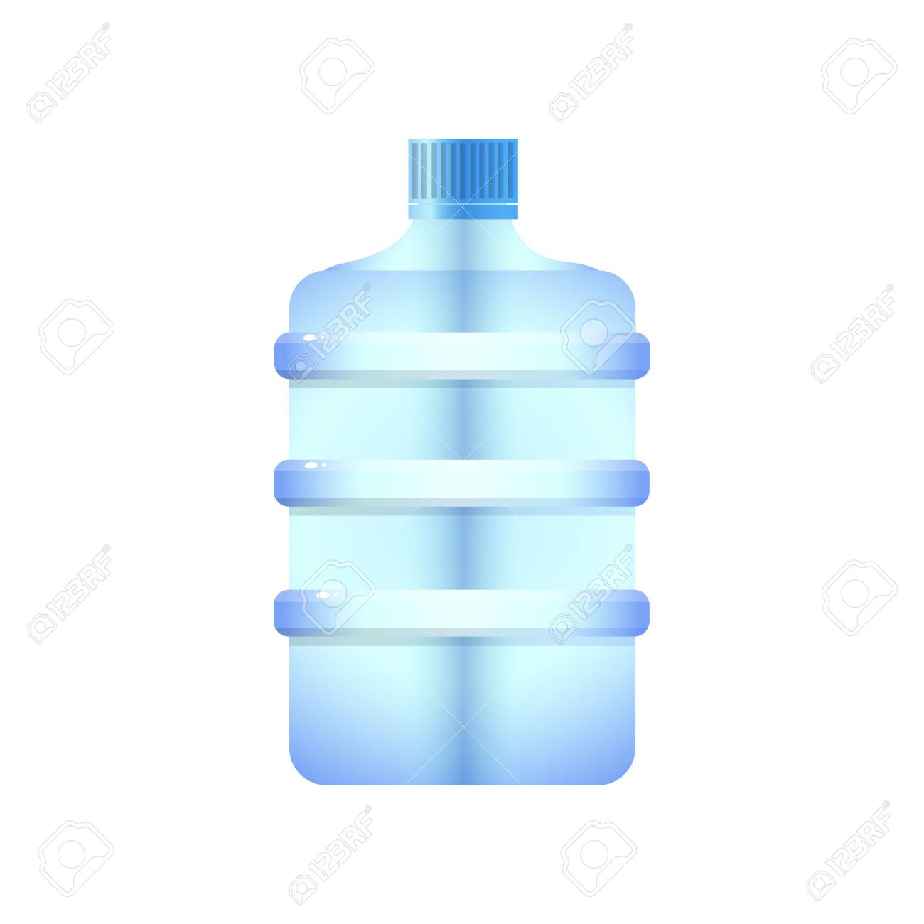 Large Plastic Water Bottle Barrel Shaped Design With Clipping