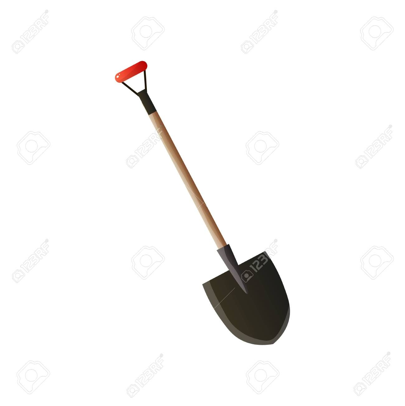 Firefighting Sticker With Steel Fire Spade With Wooden Handle Royalty Free Cliparts Vectors And Stock Illustration Image 124436087