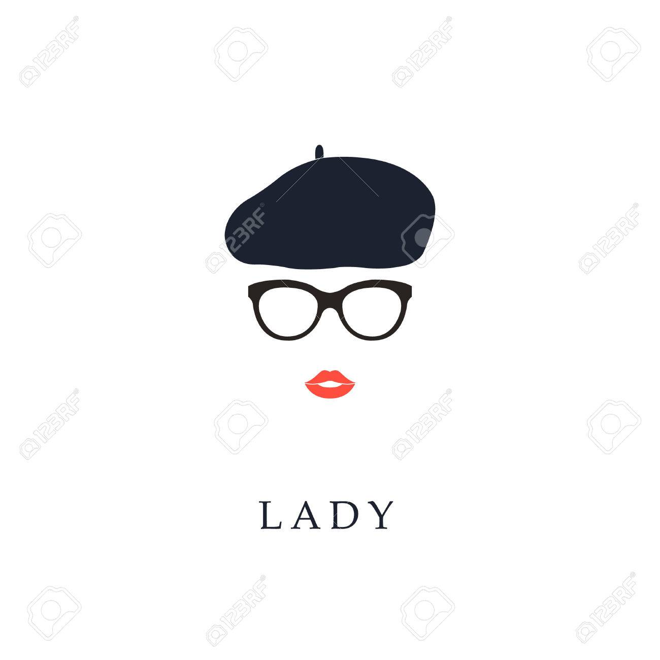 Beautiful trendy French woman wearing glasses and beret. Fashion girl portrait. - 66693660