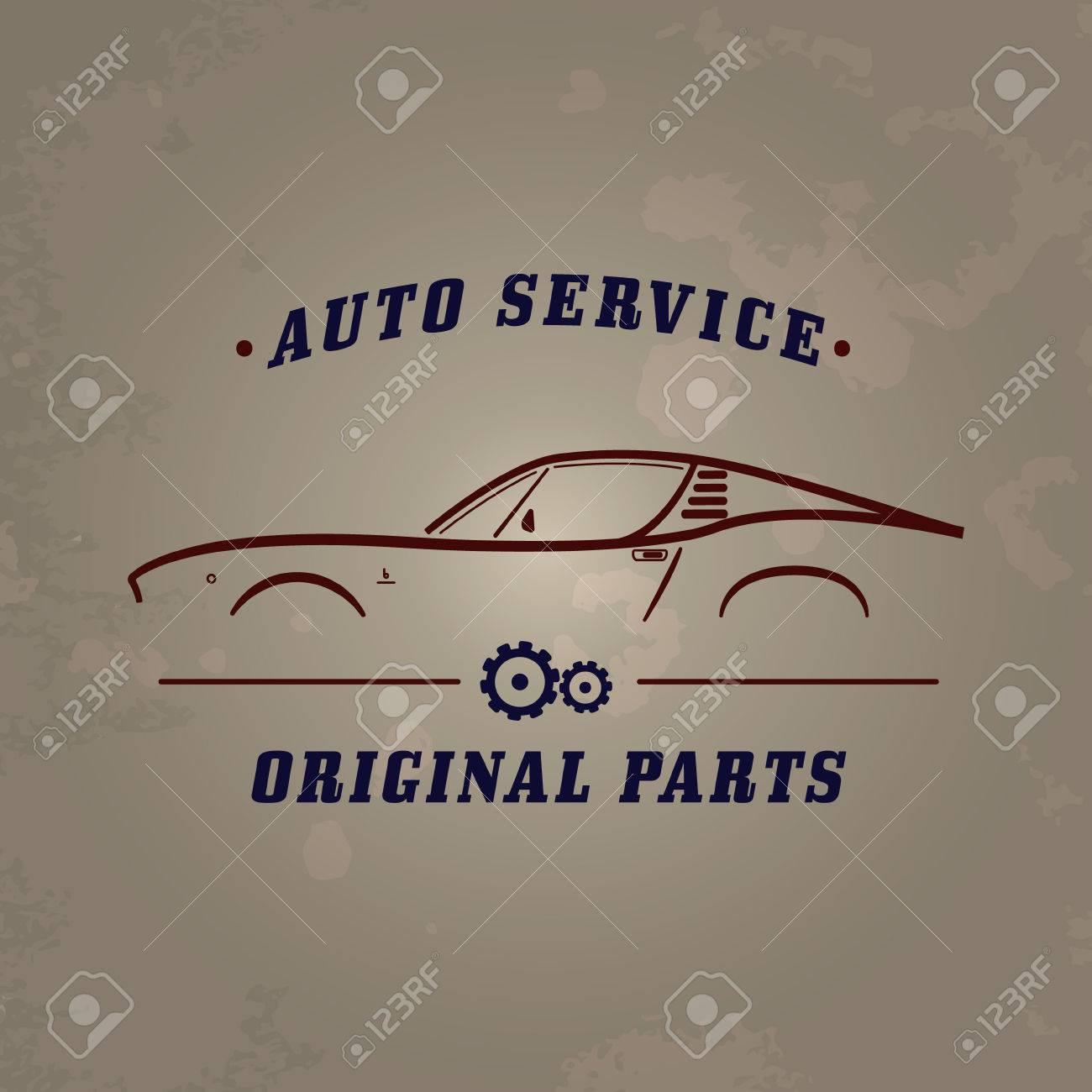 Auto Service Classic Car Logo. Car Service Retro Banner Design ...