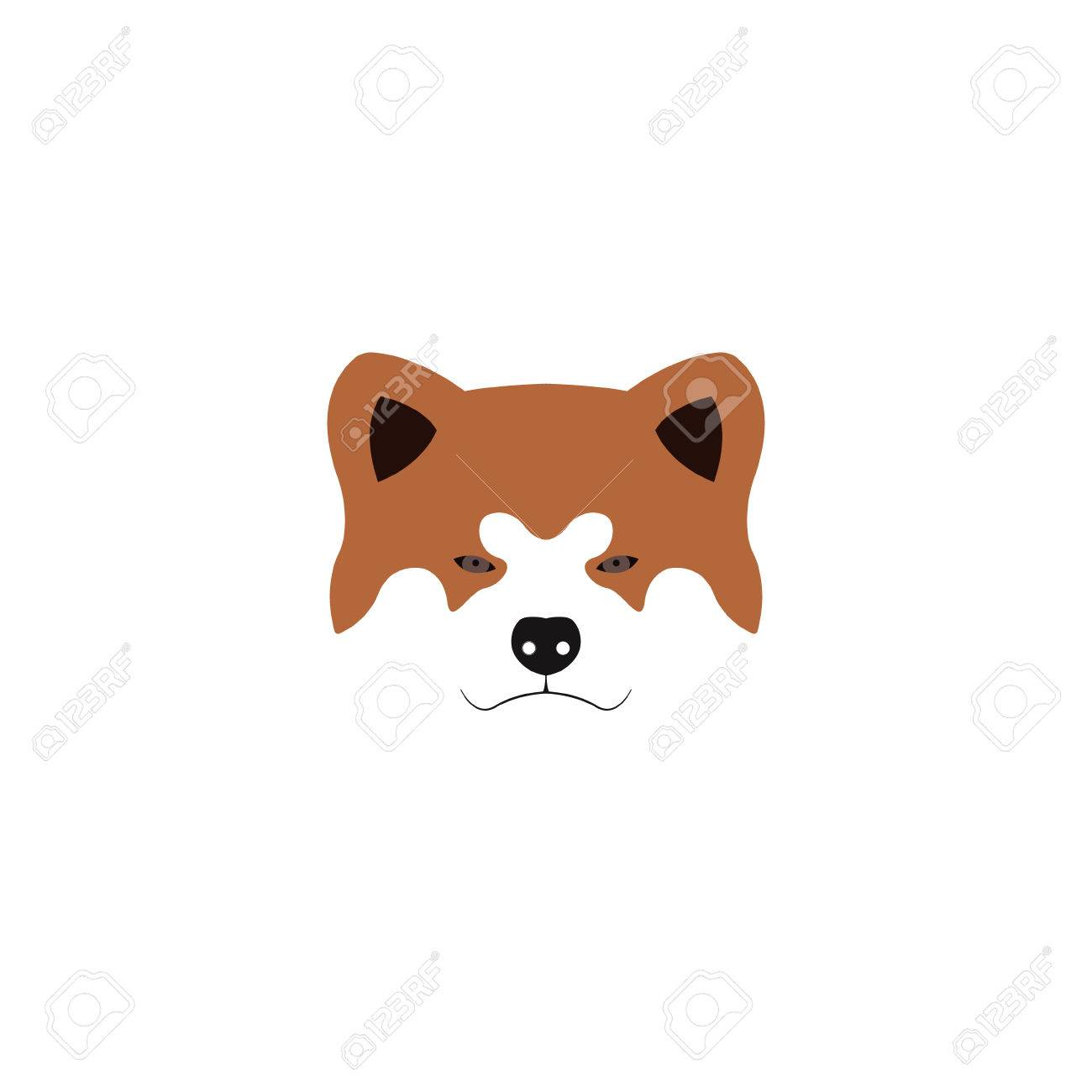 日本秋田犬犬のイラストベクトルの図のイラスト素材ベクタ Image