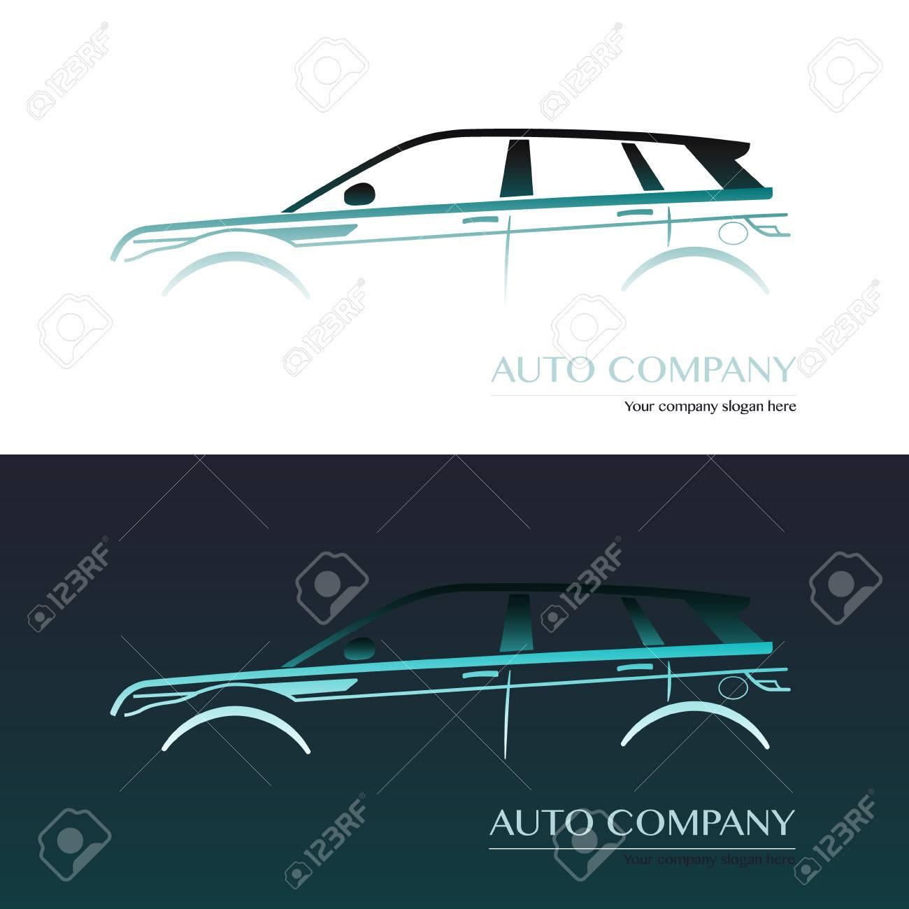 Auto Company Logo Vector Design Concept Car Business Cards Stock