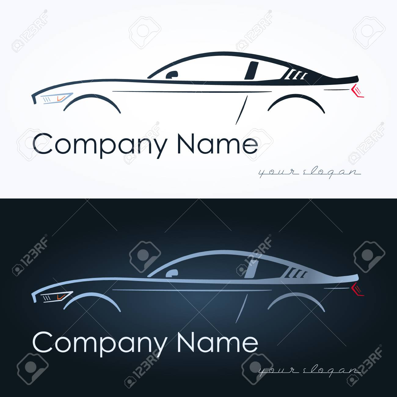 Illustration Of Abstract Sport Coupe Car. Design Template. Concept ...