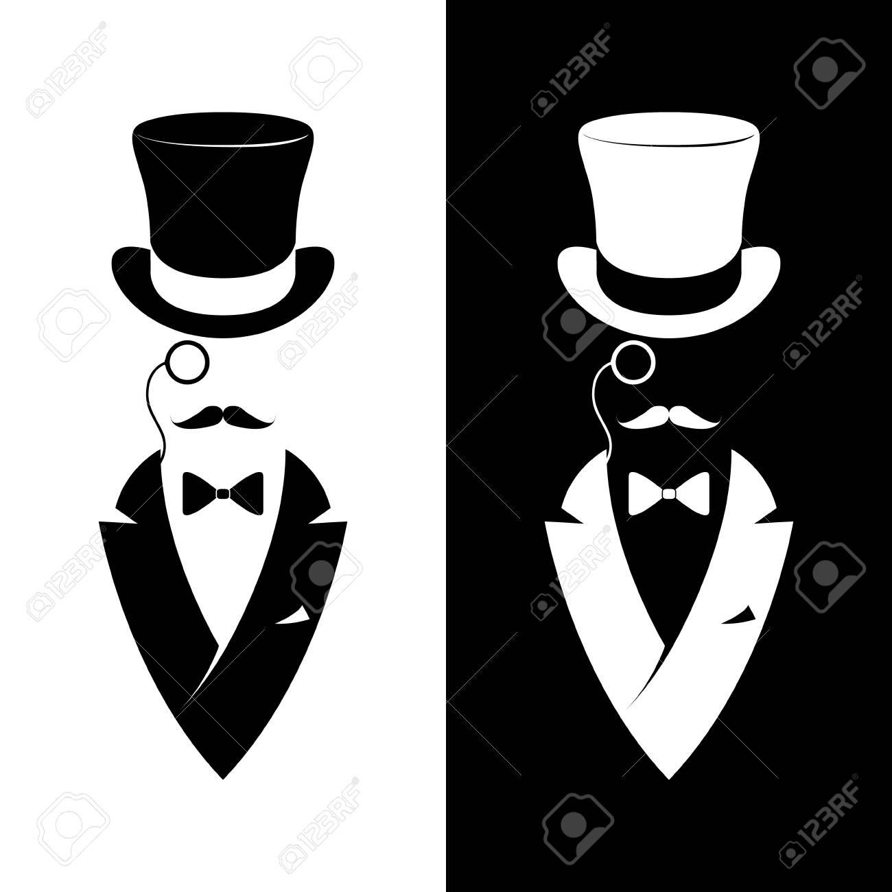 Vintage label gentlemen club. Hipster logo. Vector illustration. - 79629332