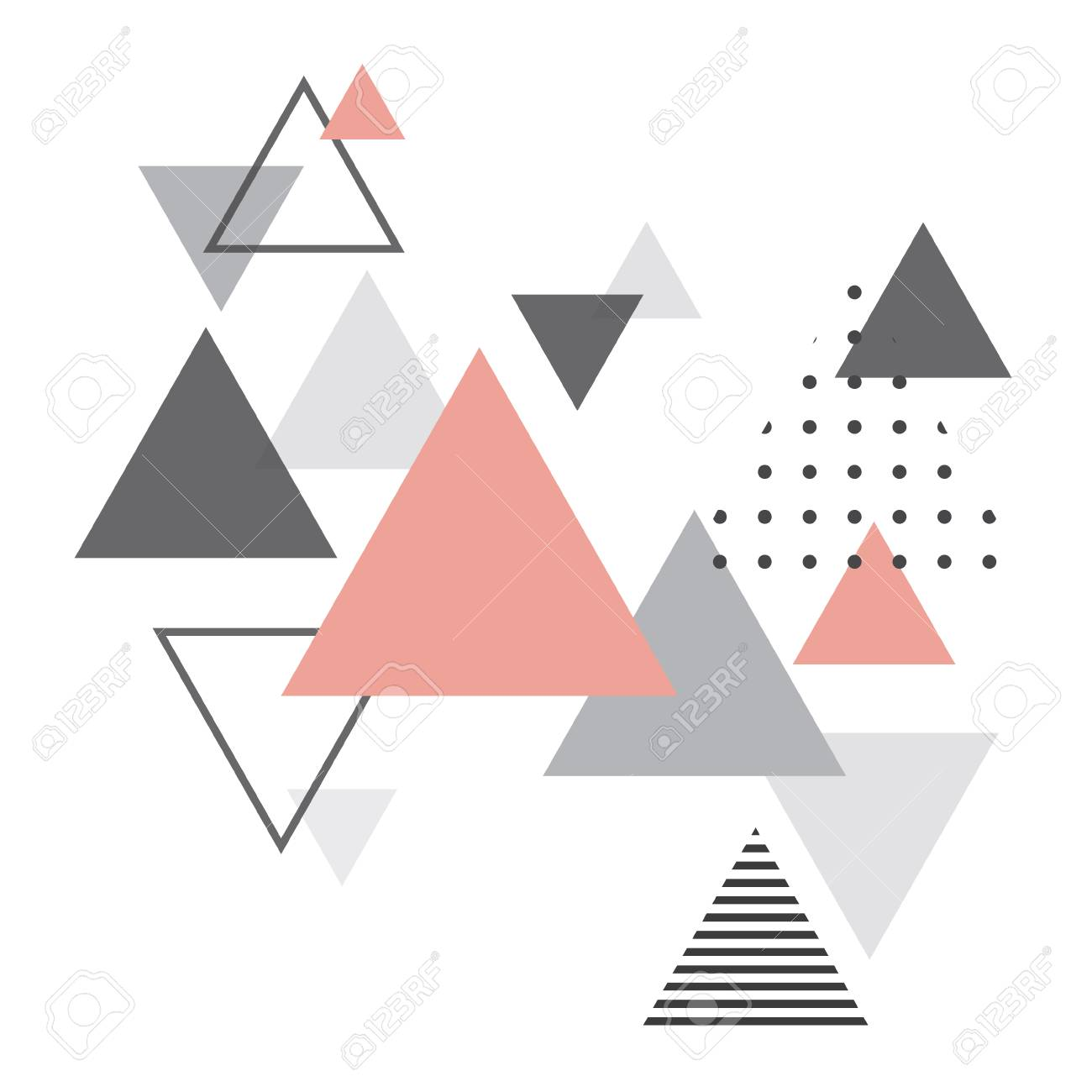 Abstrait Géométrique Scandinave Affiche De Design Abstrait Moderne Et élégant Couverture Conception De Cartes Scandi Style