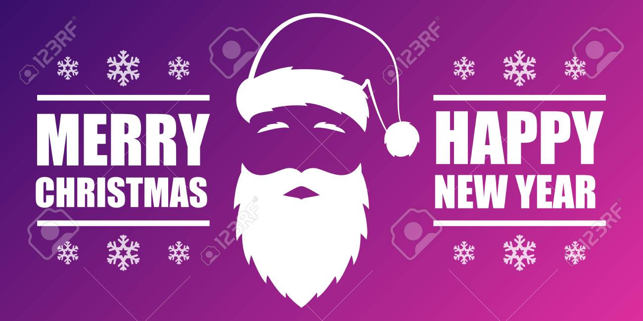 merry christmas and happy new year banner card design with santa royalty free cliparts vectors and stock illustration image 91247987 123rf com