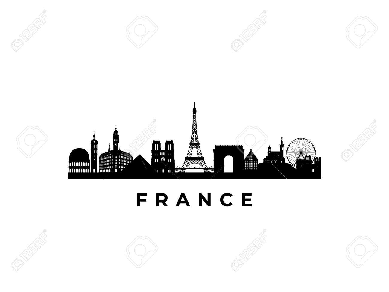 Vector France skyline. Travel France famous landmarks. Business and tourism concept for presentation, banner, web site. - 169671489