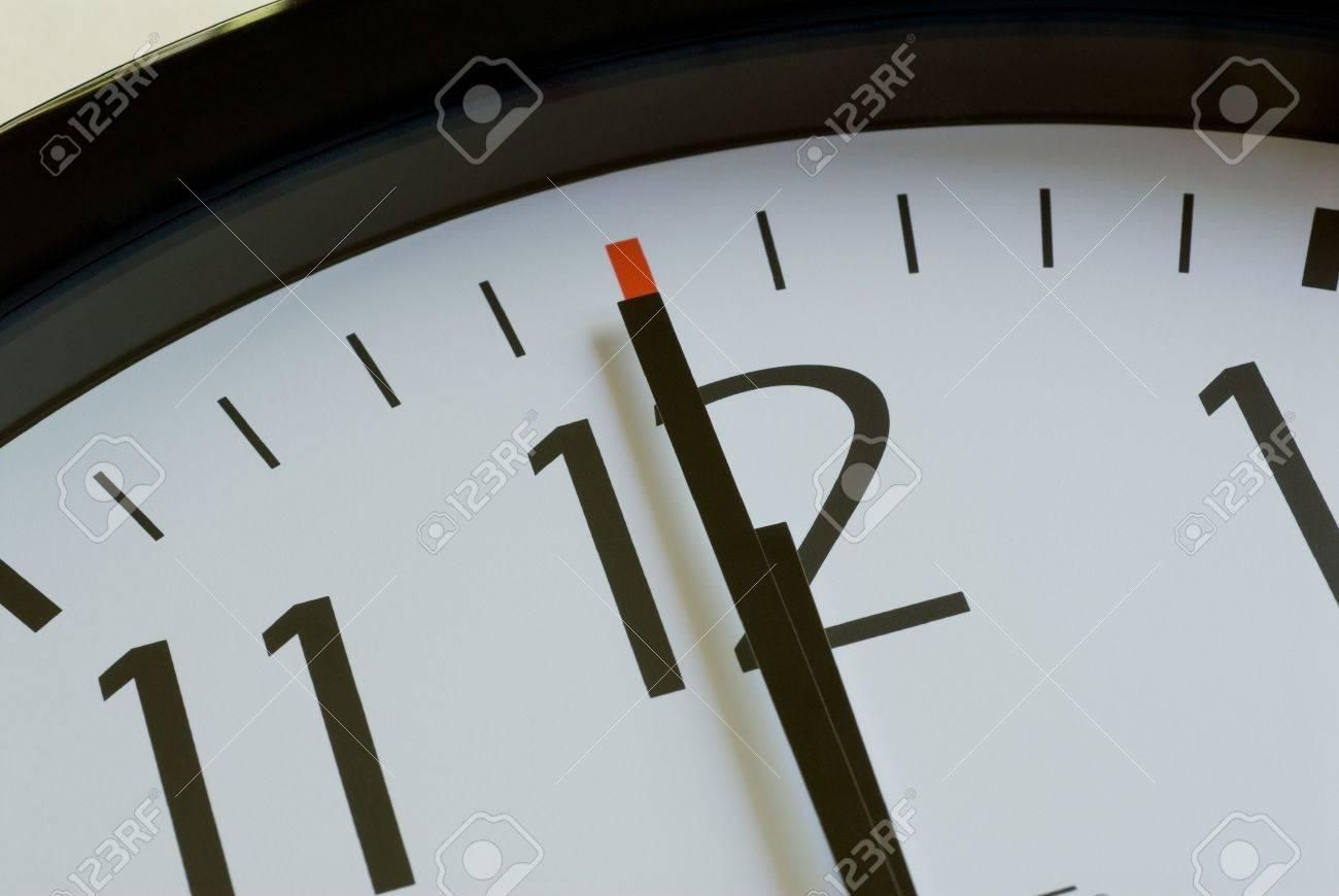 Clock Face Showing 12 O'clock Face Shows 12 o Clock Noon