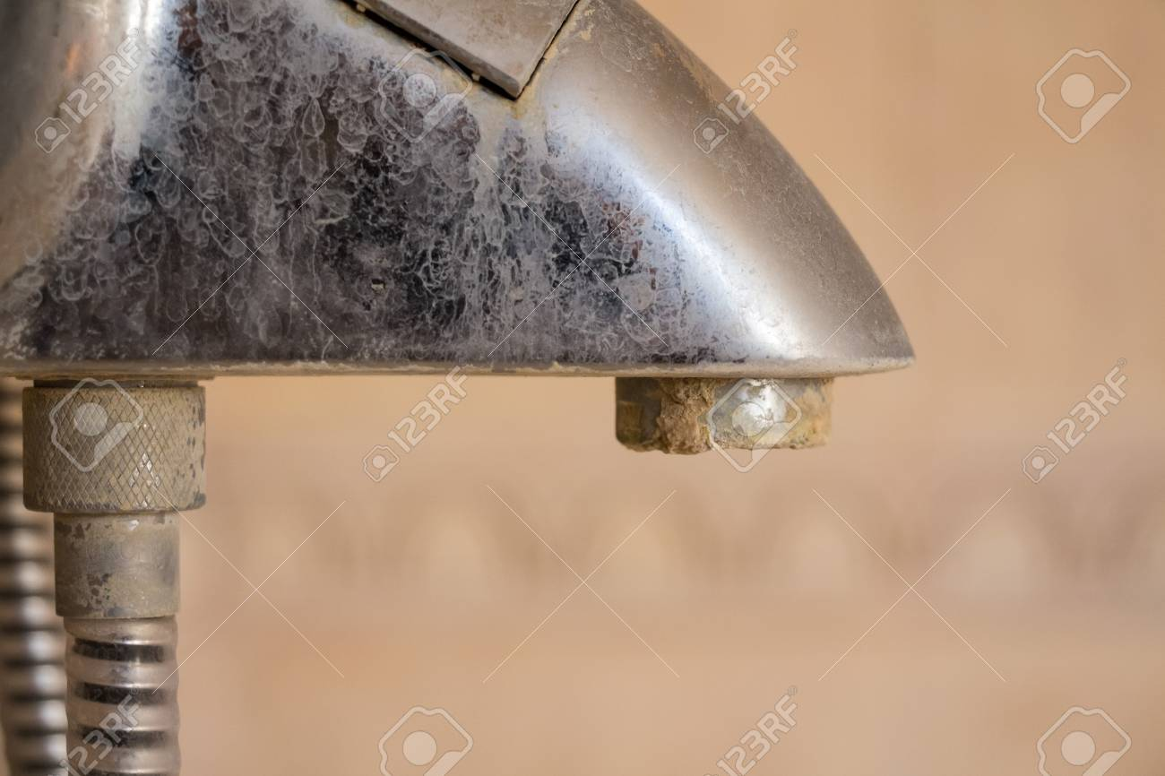Hard Water Deposit On A Tap, Dirty Stock Photo, Picture And Royalty ...