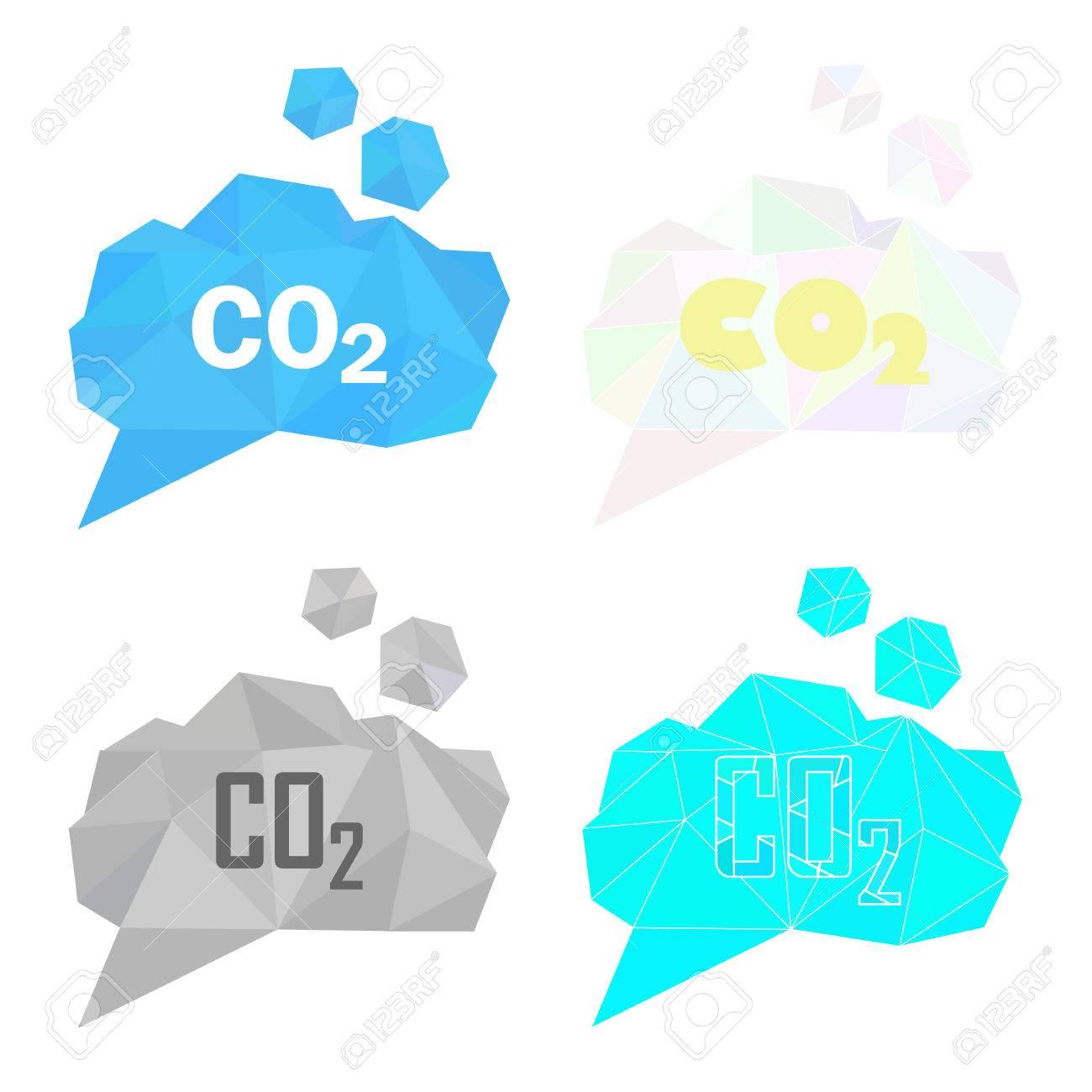 Co2 二酸化炭素ガス イラスト セット大気汚染ガス排出量地球温暖化