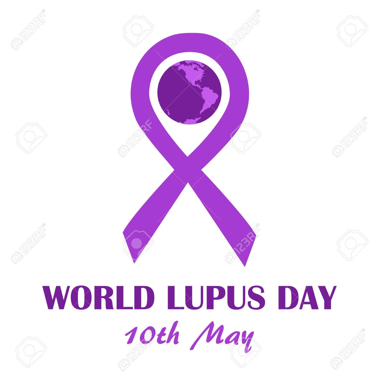 World lupus day template purple ribbon as disease awareness world lupus day template purple ribbon as disease awareness sign with earth globe illustration biocorpaavc Image collections